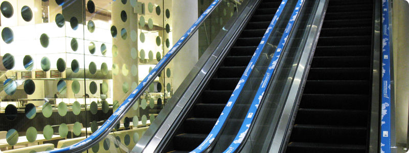 Escalator Handrail Ads - Installations By EHC Global