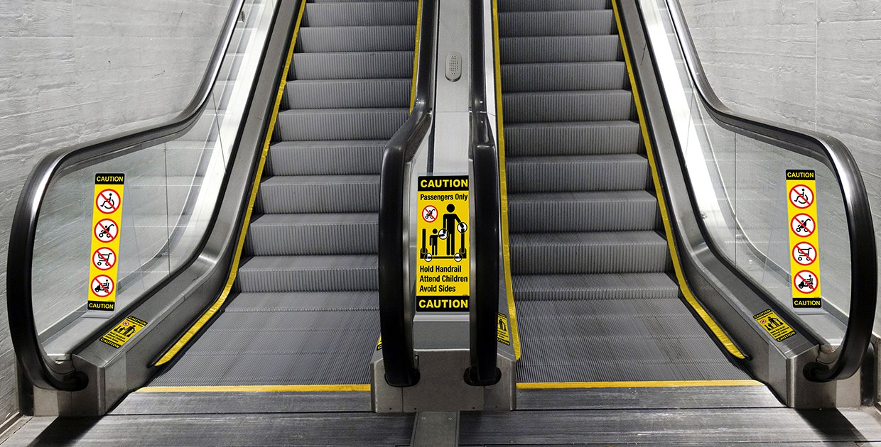 Slider Image for Escalator with Safety Plus