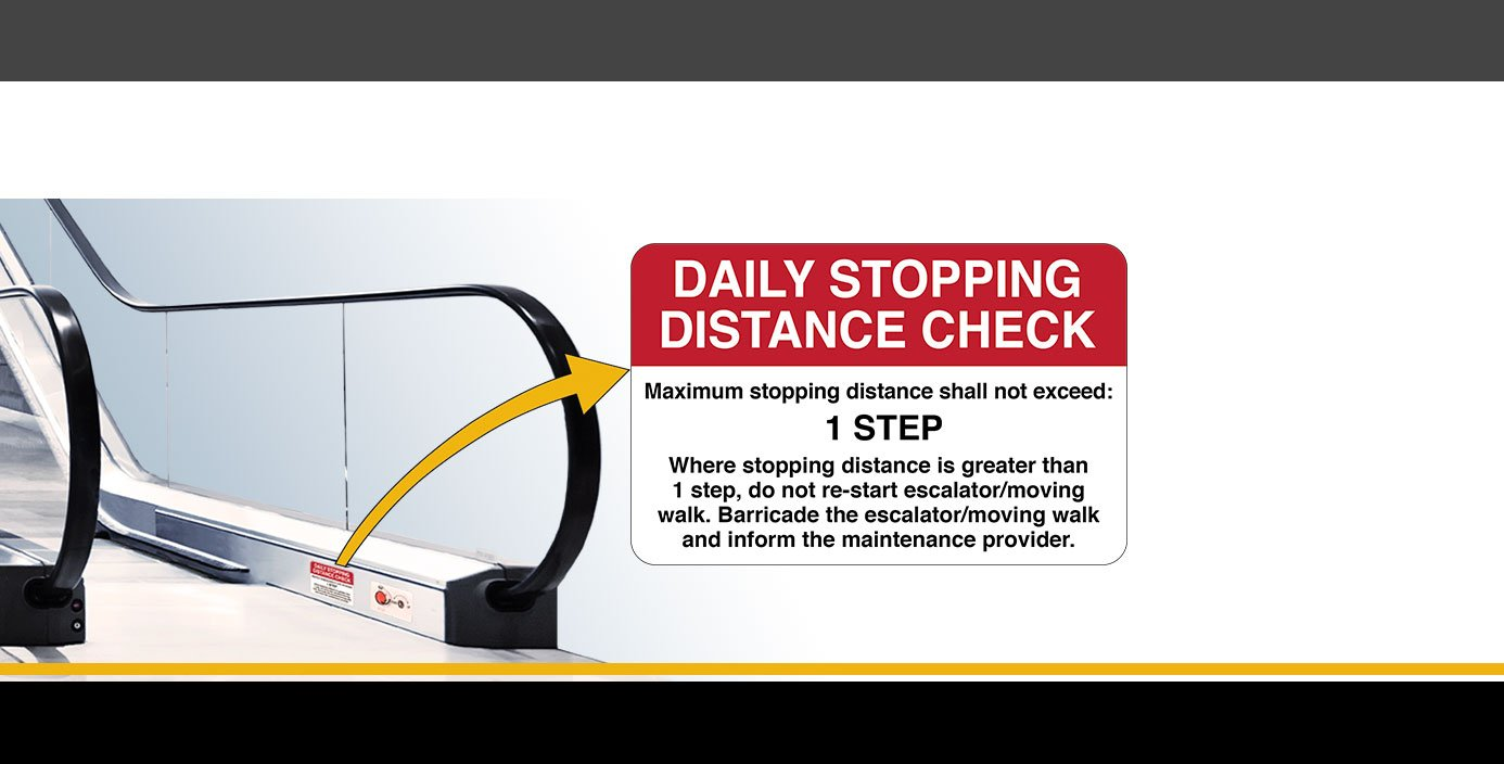 Daily Stopping Distance Check Sign