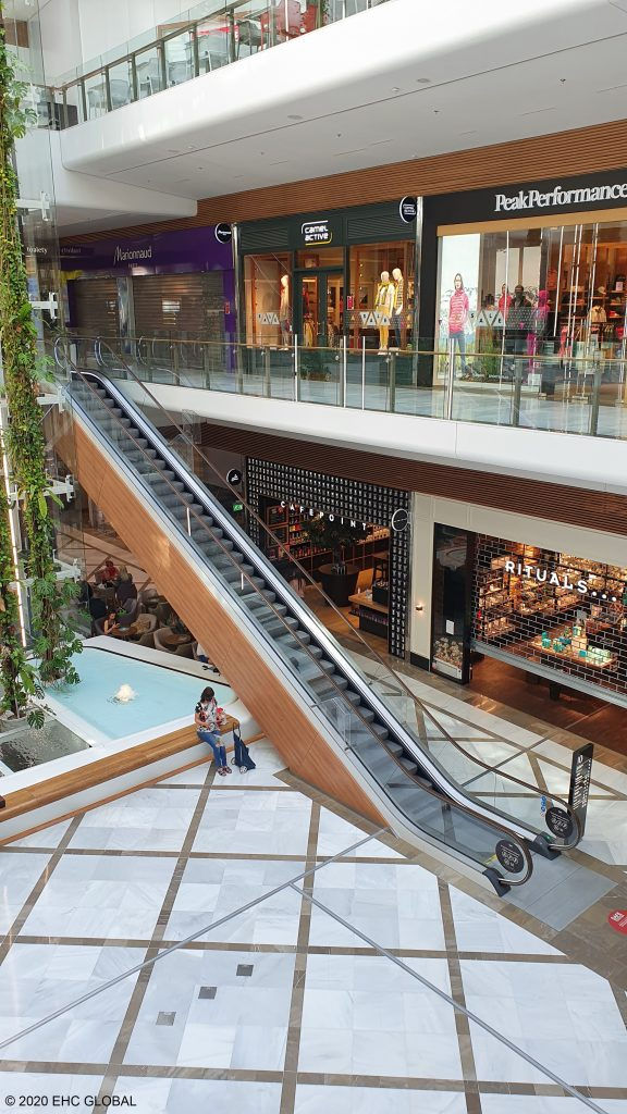 EHC Brown NT ColourRail™ Escalator Handrails Aupark Mall in Bratislava, Slovakia Fourth
