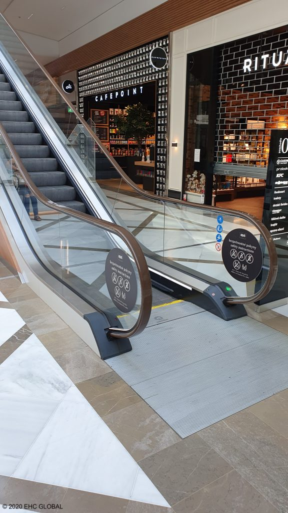 EHC Brown NT ColourRail™ Escalator Handrails Aupark Mall in Bratislava, Slovakia Seventh